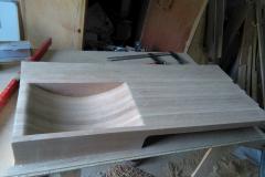 Dřevěné umyvadlo - broušení